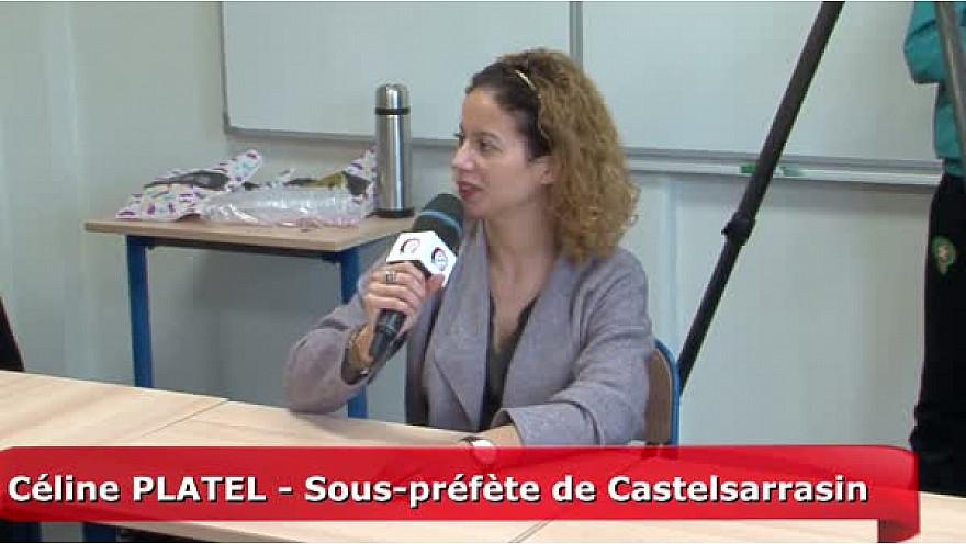 Céline Platel, sous-préfète de l'arrondissement de Castelsarrasin - 82  interviewée par les Jeunes Reporters de la MLDS 82